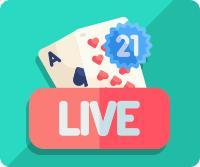 blackjack live croupière cartes