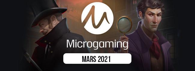 Les nouveautés de Microgaming