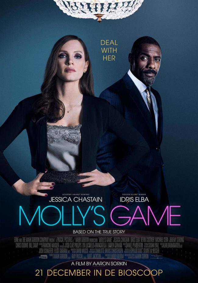 Molly's game affiche film poker